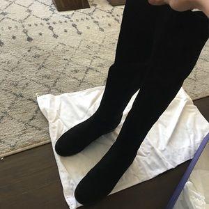 Stuart Weizmann Black Suede Boots 5050